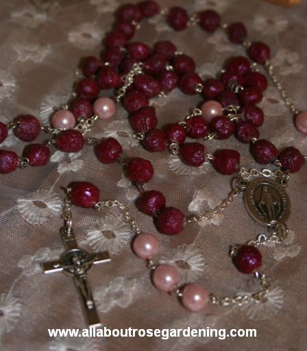 make rosary beads from rose petals, flowers, gardening, My Rose Petal Rosary Beads