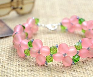 If you're just getting started to explore with bead and wire, try making this pretty pink and green bracelet. This design makes a great gift for a gir...