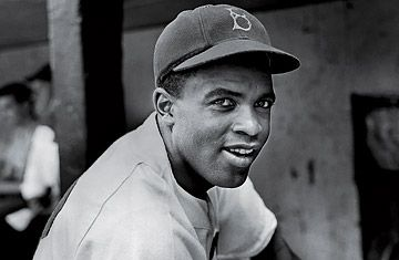 Jackie Robinson - on April 15, 1947, he became the first African American to play in the modern major leagues. He played for the Brooklyn Dodgers for ten seasons, led the National League in stolen bases in 1947 and 1949 and was named the NL Rookie of the Year in 1947. He was selected to six MLB All-Star teams and was the first African American to be selected as the league's MVP (1949).