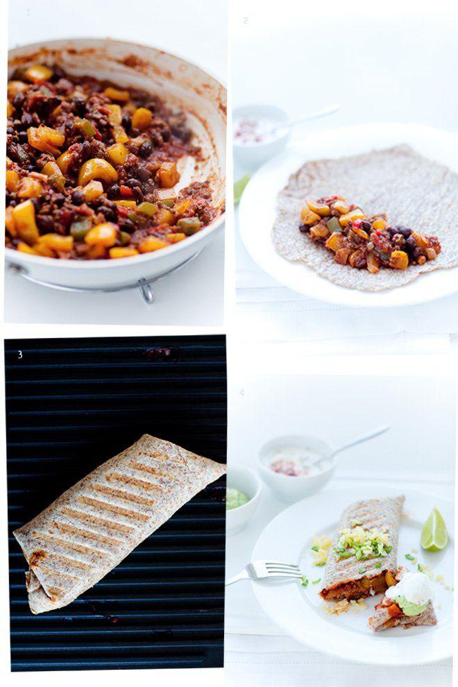 Burrito z farszem chili con carne
