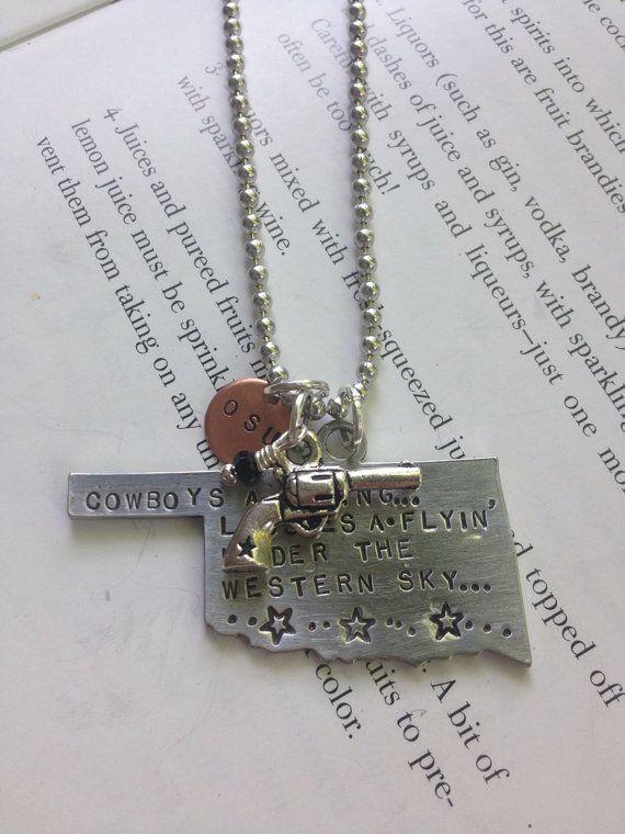 Oklahoma State Cowboys OSU Oklahoma Necklaces by fortyoneSparkles