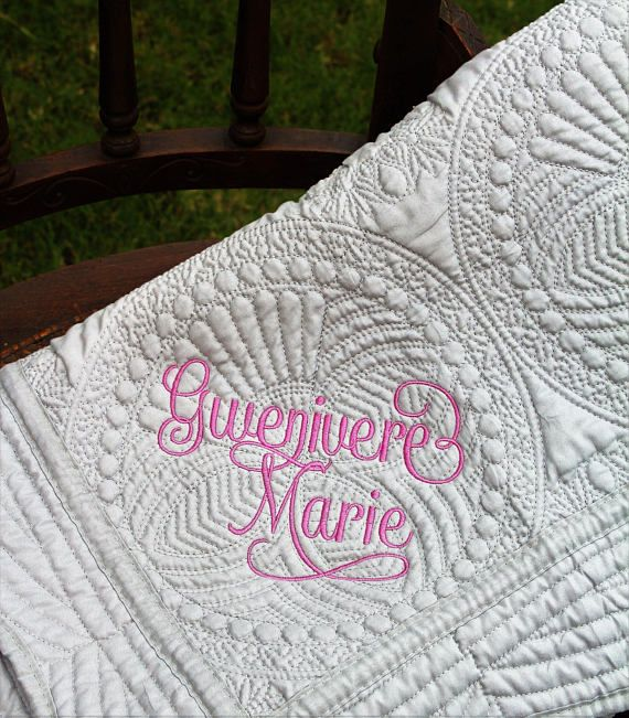 20 best baby girl gifts images on pinterest baby girl gifts girl quilt with two names monogrammed baby quilt monogrammed negle Images
