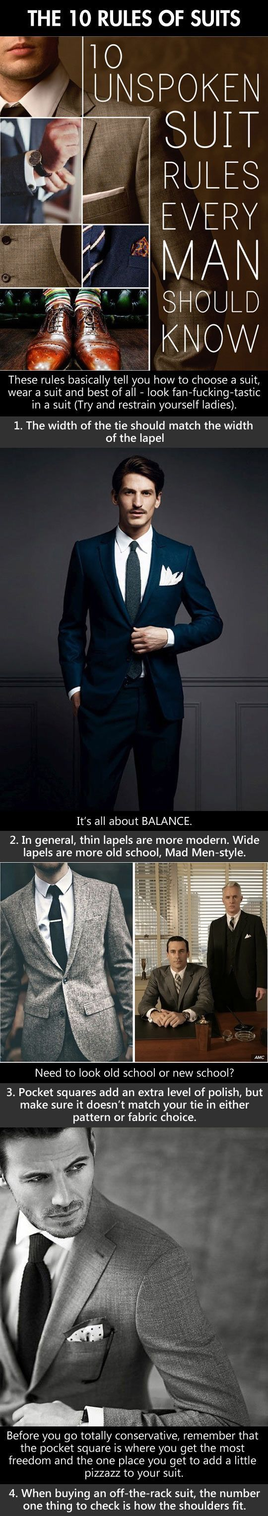 The 10 rules of suit.