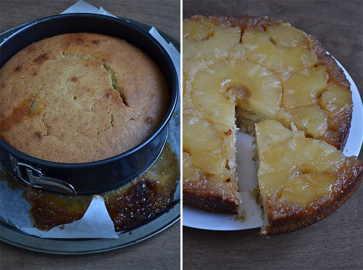 Перевернутый ананасовый пирог