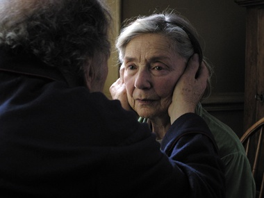 Amour  Michael Haneke introducesus to eightysomethings Georges and Anne, retired music teachers going through the motions in France. Until Anne gets sick. No funny game (translation: It's not a popcorn movie), Haneke's stark vision of love trickled through the festival circuit picking up awards along the way (top prize at Cannes) and taught us one serious lesson: Love is all you need — and someone to wipe your bottom.It's like:TyrannosaurmeetsAway from Her.Take:Your…