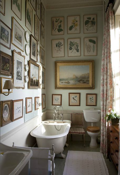 Country house bathroom. Milton hall. Once home to the earls Fitzwilliam