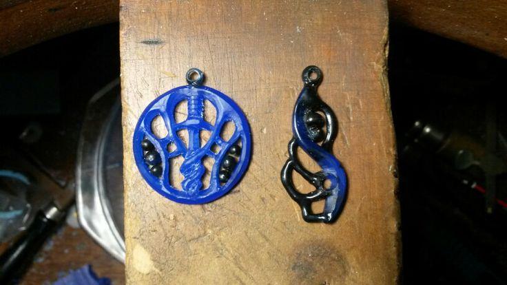 Wax pendants