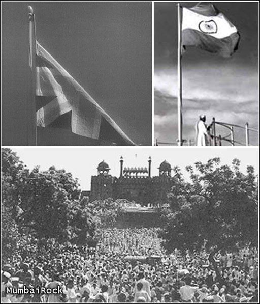Indian flag replaced British flag on August 15, 1947 as India got independence.