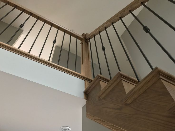 Custom rustic stain and matte finish stairs
