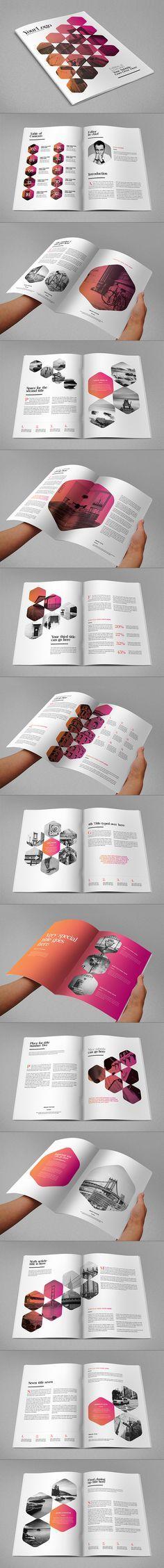 Minimal Modern Clean Magazine. Download here: http://graphicriver.net/item/minimal-modern-clean-magazine/11295103?ref=abradesign #design #magazine Latest Modern Web Designs. http://webworksagency.com