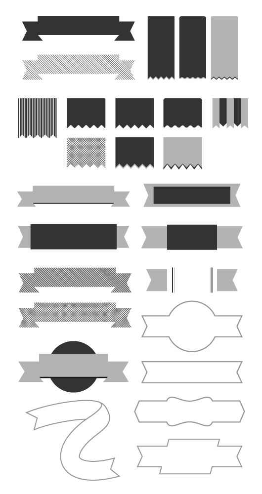Minimal Vector Ribbons - Freebies - Fribly