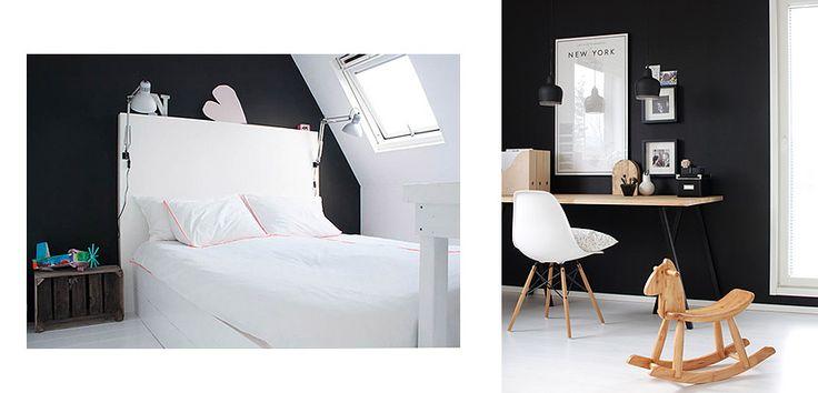 Dormitorios con Pared Negra