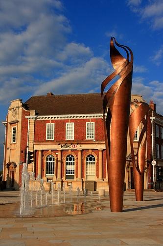 Sculpture in Letchworth Garden City