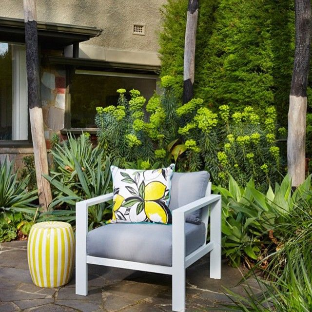 Love this outdoor space styled by Checks and Spots. theguideonline.com.au