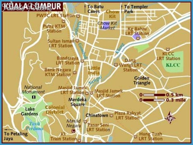 Kuala Lumpur Map Tourist Attractions - http://travelsfinders.com/kuala-lumpur-map-tourist-attractions.html
