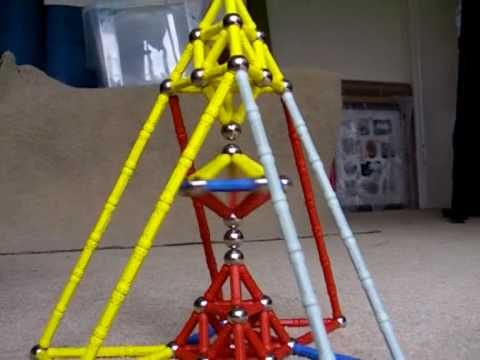 Balancing Geomag Spinner - YouTube