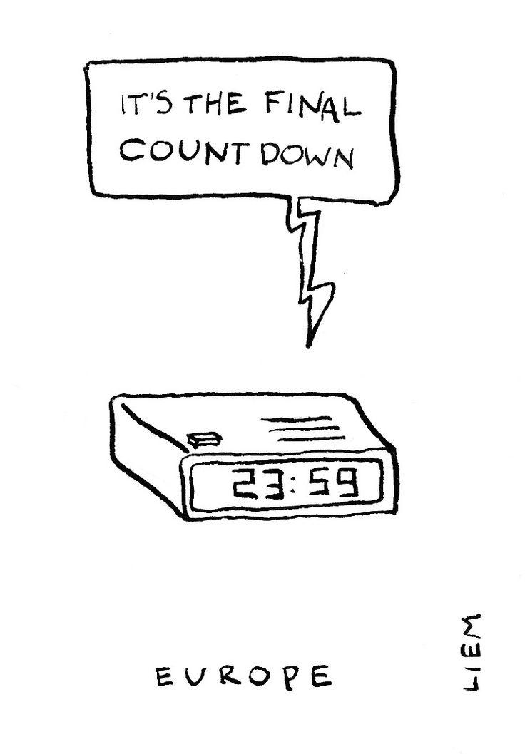 Europe. The Final Countdown. 365 illustrated lyrics project, Brigitte Liem.