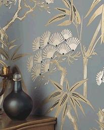 our livingroom wallpaper. I love it!!