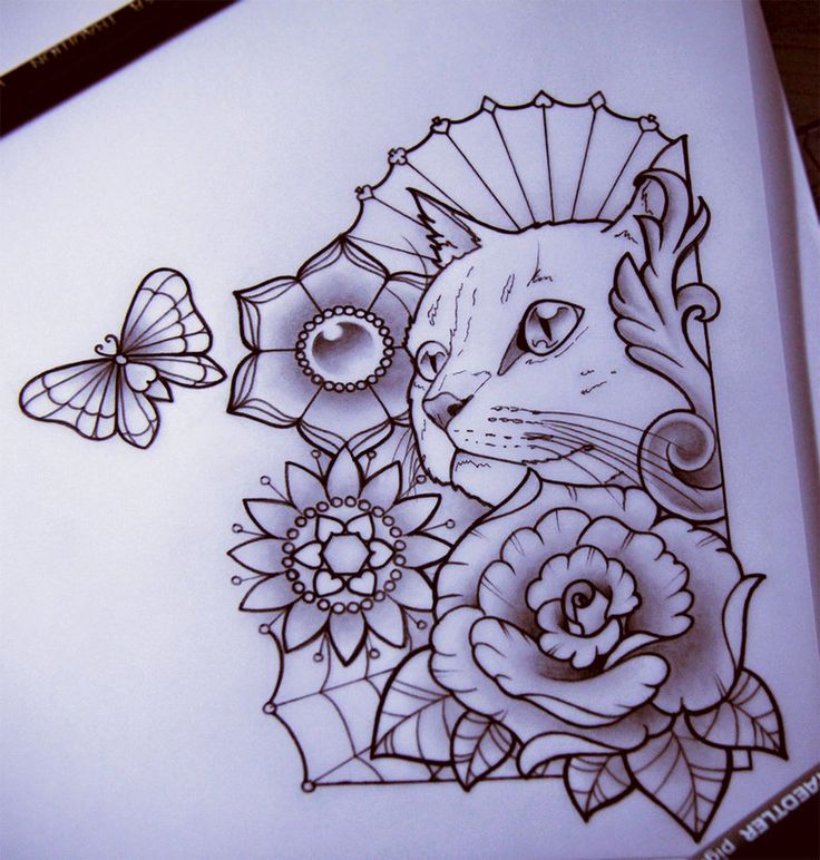 Kitty by ~nataliarey on deviantART. Put my guy C.G. in the center , With flowers and roses around him.