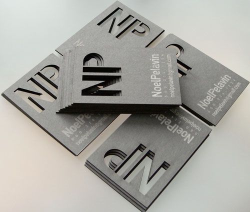 Big Typography In Business Card Design - 62 Cool Examples