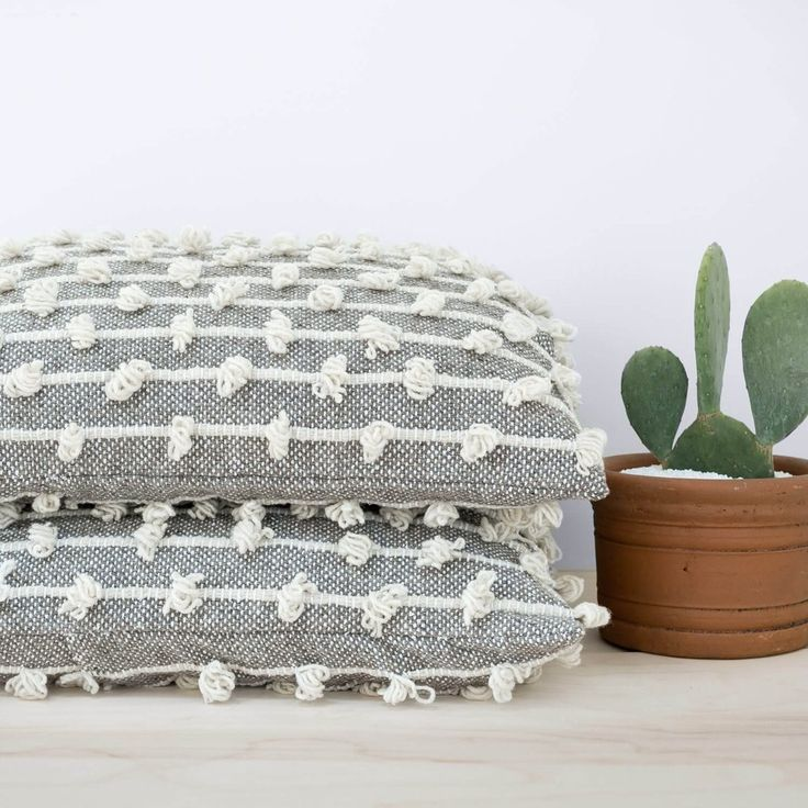 Oversized Floor Pillows | Grey Wool   – The Citizenry
