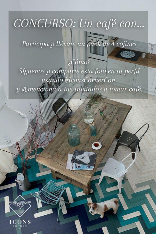 """GANA un pack de 4 #cojines achuchables con nuestro nuevo #concurso en #Instagram """"Un Café con..."""" #IconsCornerCon #deco #decoración #giveaway #interiorismo #sorteo"""