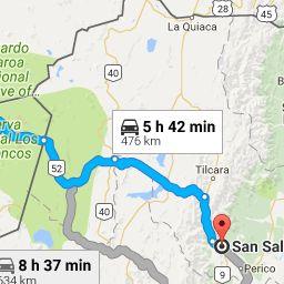 De San Pedro de Atacama, Región de Antofagasta, Chile a San Salvador de Jujuy, Jujuy - Google Maps