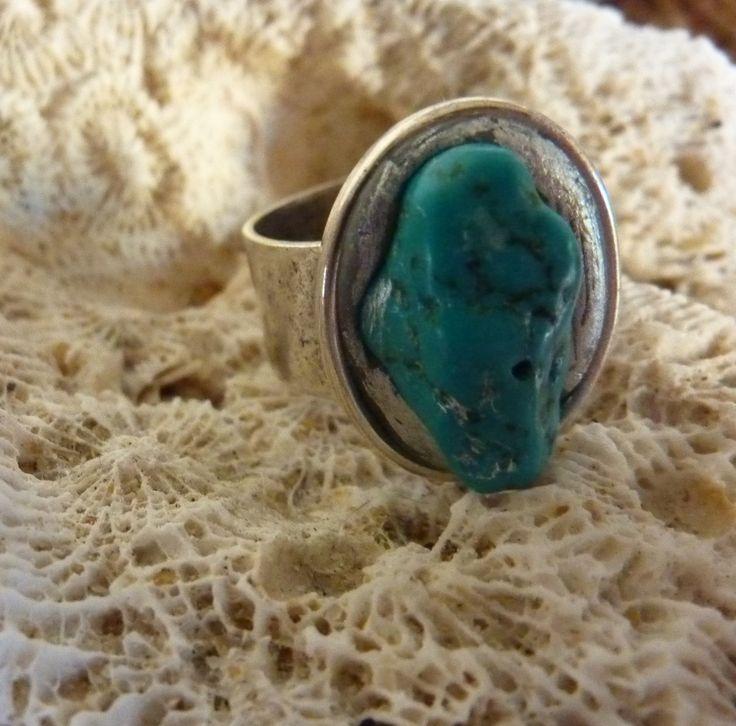 Turquoise Ring - handmade crystal energy gemstone jewellery Earth Jewel Creations Australia