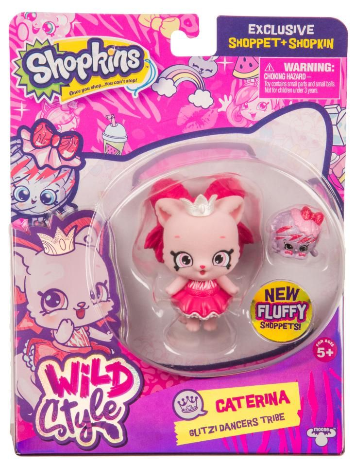 Shopkins Season 9 Wild Style Caterina Shoppet Pack