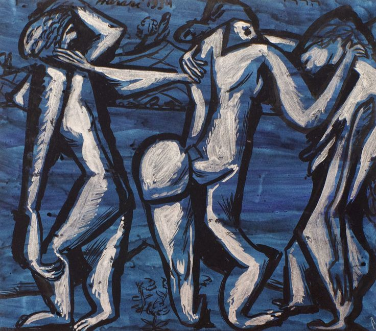 Les trois graces, 1934 by Hananiah Harari (American, 1912 - 2000) - Richard Norton Gallery