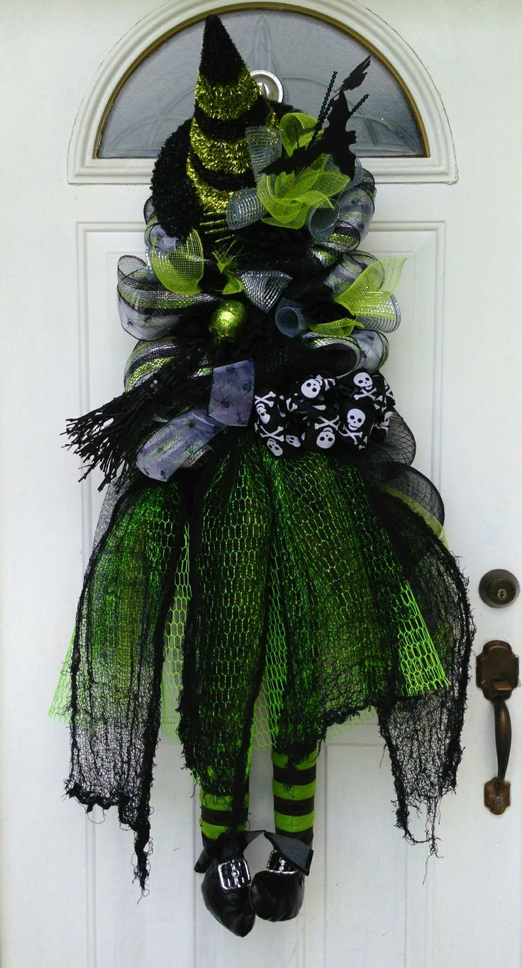 Wicked witch wreath.