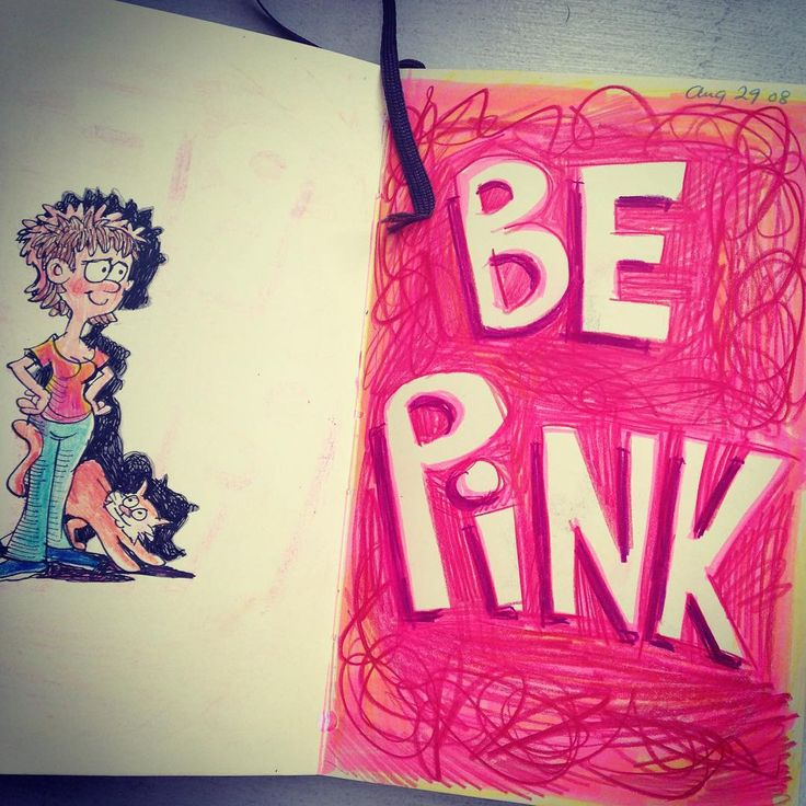 Be pink. (Aug1/15) #dailydrawing #sketchbook