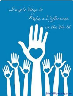 make a difference in the world essay How to make a meaningful difference in the world everywhere it seems on the news and in the media there is negative news of.