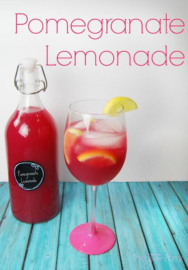 Easy Peasy Pomegranate Lemonade - a delicious drink made with pomegranate juice and frozen lemonade! This beverage takes just minutes!   The TipToe Fairy