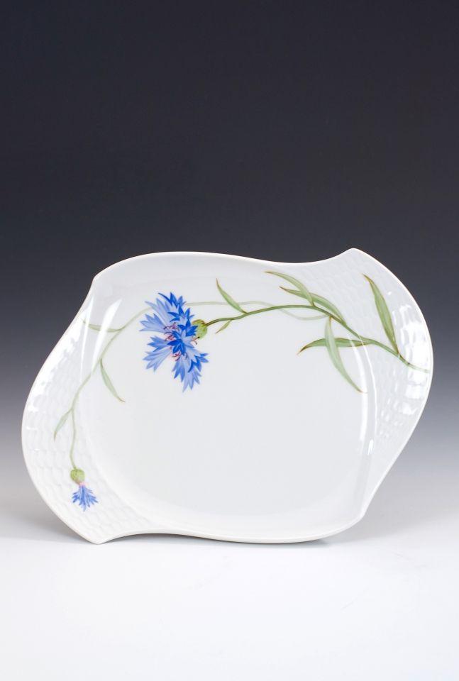 Platter, oval, Cornflower, blue, L 25,5 cm