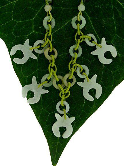 Taurus Astrology Choker Style Handmade Jade Necklace (Lime)