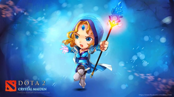 dota 2 chibi wallpaper crystal maiden