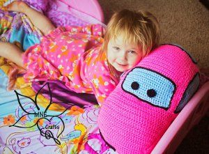 Crocheted Car Pillow Pal