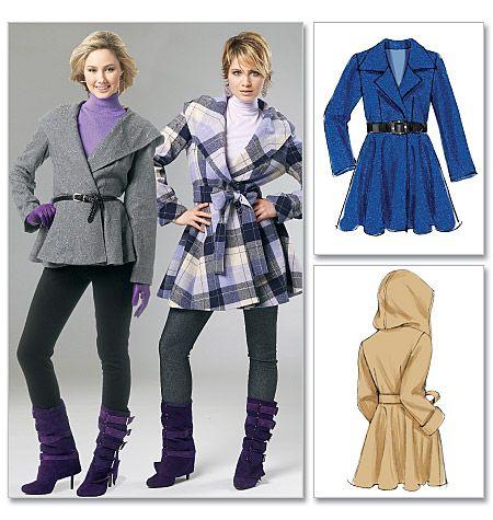 Misses' Lined Coats and Belt