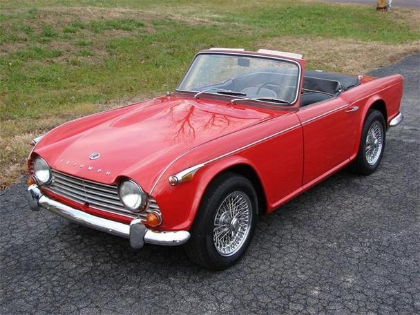 1966 Triumph Tr4perfect For A Zany Sixties Chase Scene