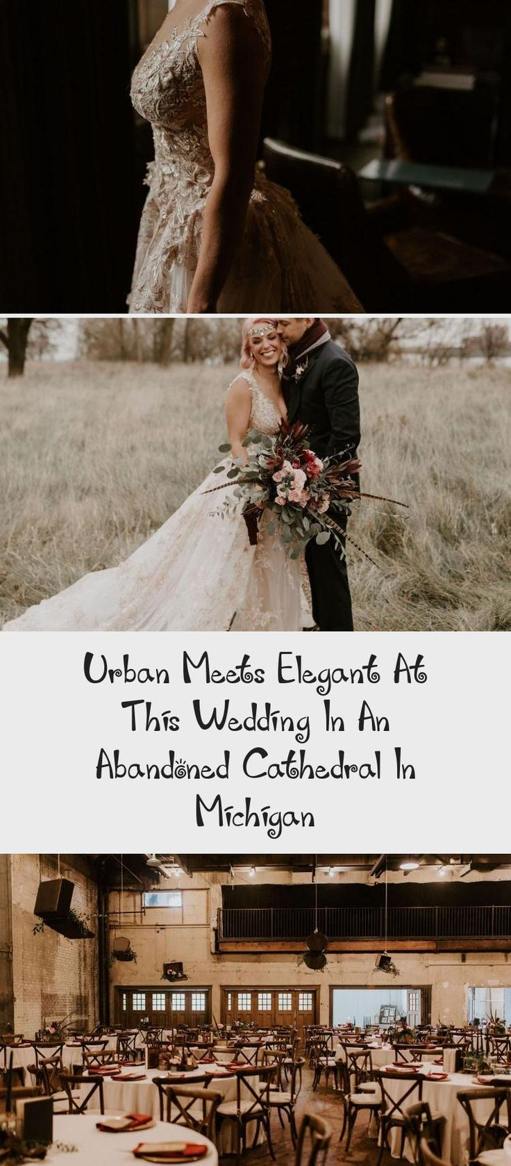 Urban Meets Elegant at this Wedding in an Abandoned Cathedral in Michigan - Green Wedding Shoes #BridesmaidDressesPurple #DavidsBridalBridesmaidDresses #CasualBridesmaidDresses #YellowBridesmaidDresses #PlumBridesmaidDresses