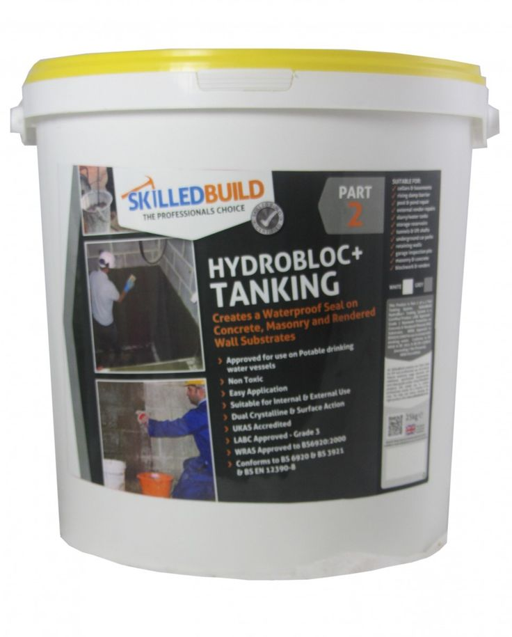 SkilledBuild Tanking Slurry - creates a waterproof seal on concrete, masonry and rendered wall substrates!
