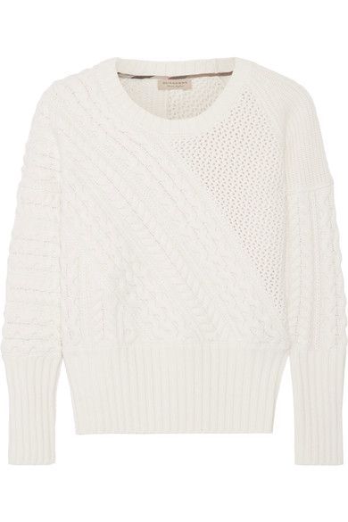 Burberry | Cable-knit wool and cashmere-blend sweater | NET-A-PORTER.COM