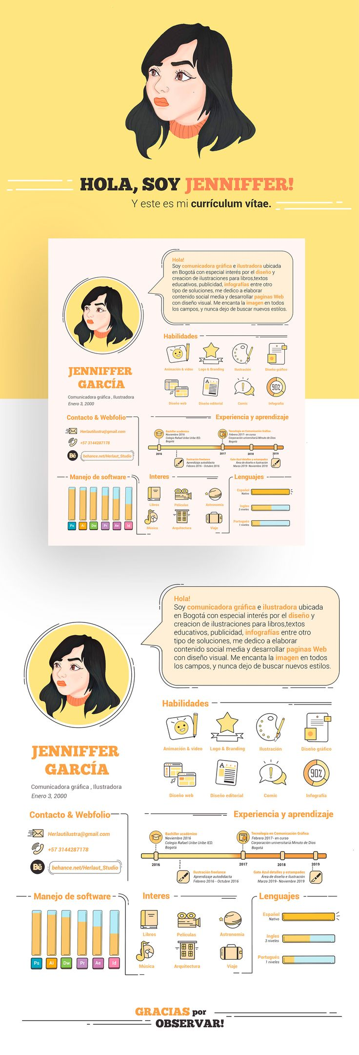 Illustrator designer resume cv graphic design resume