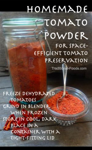 Homemade Tomato Powder @ Traditional-Foods.com
