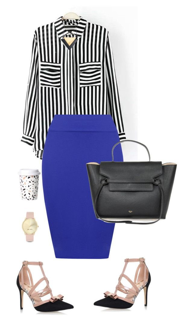 """""""Non-Boring Work Outfit 7"""" by onyxbertha ❤ liked on Polyvore featuring WearAll, Miss KG and Nine West"""