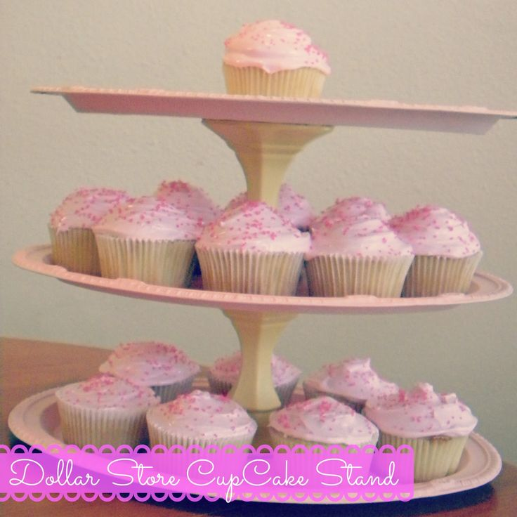 DIY: Cupcake/Dessert Stand made with dollor store items ...