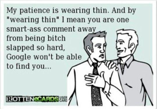 Wearing thin