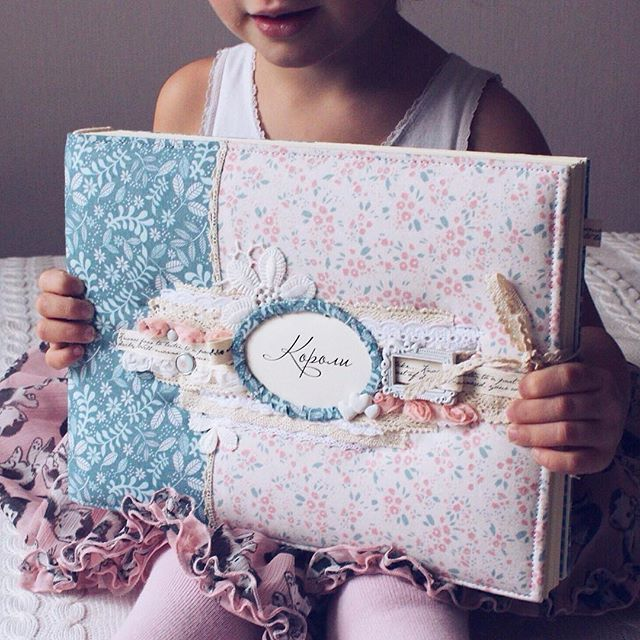 Scrapbooking Fabric Album With Hard Cover #sew_for_you #byalinasukhova