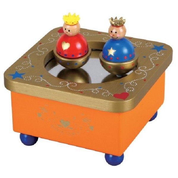 Muziekdoosje Koning Willem-Alexander & Koningin Maxima. Merk : Lelin Toys.